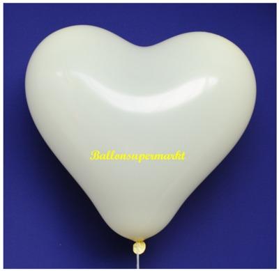 Herzluftballon, 40 bis 45 cm, Elfenbein