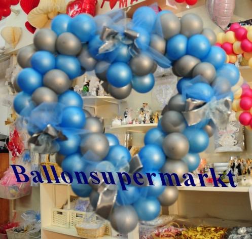 Hochzeitsdeko-Ballons-Herzdeko-Hochzeitsschleifen-65-cm-Deko-Hochzeit