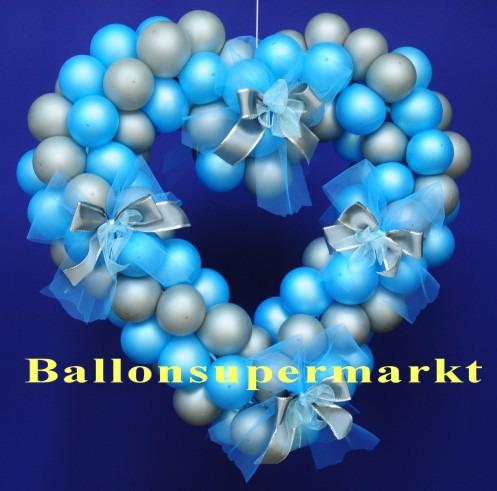 Hochzeitsdeko-Luftballons-Herzdeko-Hochzeitsschleifen-65-cm-Deko-Hochzeit