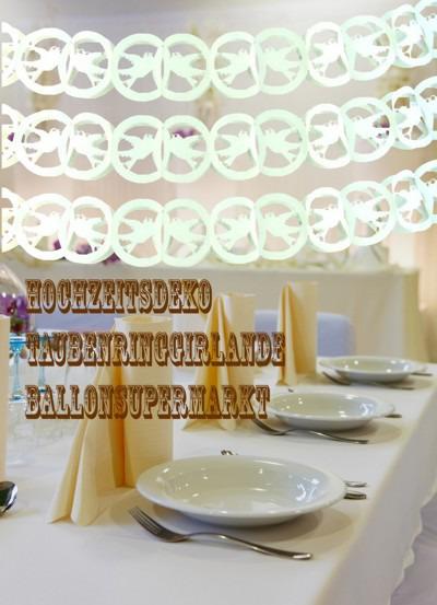 Hochzeit-Dekoration-Tauben-Ring-Girlande