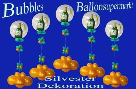 Silvester-Dekoration-Sekt-Champagner-Ballondeko