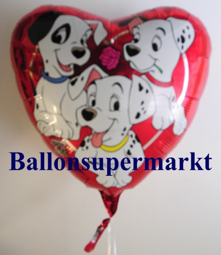 Dalmatiner-Herz-Luftballons