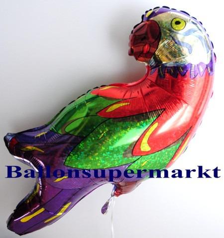 Glitzer-Papagei-Luftballon-aus-Folie