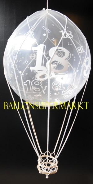 ballonsupermarkt fesselballon zum 18. Black Bedroom Furniture Sets. Home Design Ideas
