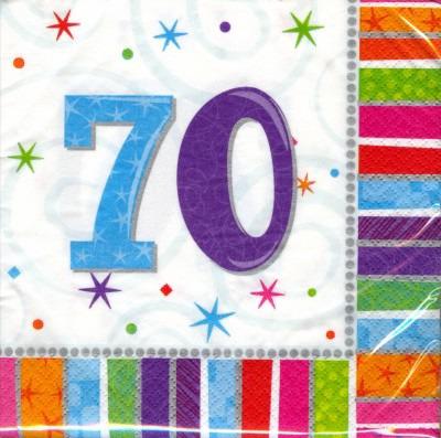 70. Geburtstag Deko Servietten