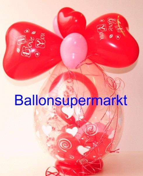 Mit Liebe schenken, Geschenk im Ballon zum Valentinstag