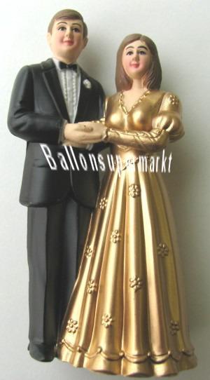 Hochzeitspaar Hochzeitsdeko, Dekoration, Tischdekoration Goldene Hochzeit