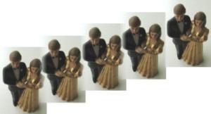 Tischdekoration zur Goldenen Hochzeit