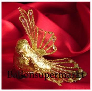 Taube Gold, Dekoration Goldene Hochzeit