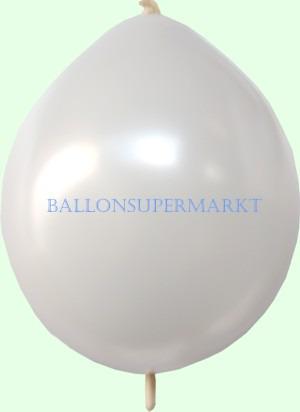 Kettenballon-Girlandenballon-Link-o-Loon-weiss-metallicfarben