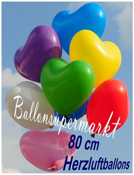 riesenballons herzluftballons 5 st ck herzluftballons 80 cm luftballons ballonsupermarkt. Black Bedroom Furniture Sets. Home Design Ideas