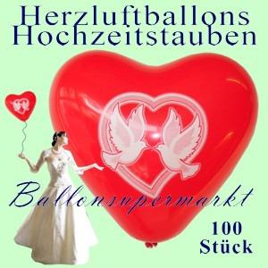 Herzluftballons-Hochzeitstauben-100-Luftballons-Herzen