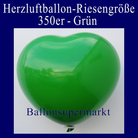 Herzluftballon-Riesenluftballon-Riesenballon-Herz-Gruen
