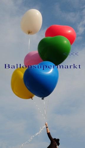 Riesenballon-Herzballon-riesiger-Herzluftballon-Gruen