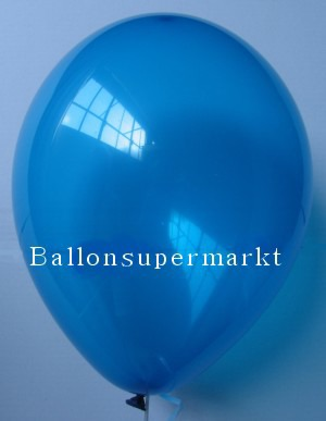 Luftballons Rundballons Oval Blau Kristall