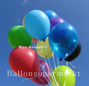 Luftballontraube Standard Rundballons Oval Blau-Kristall