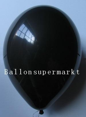 Luftballons Rundballons Oval Schwarz