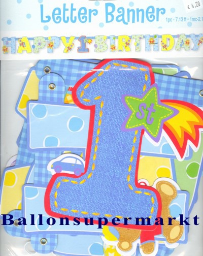 1.-Geburtstag-Geburtstagsdekoration-Geburtstagsgirlande-Letterbanner