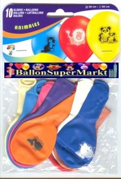 Motiv-Luftballons Tiere, Tierfiguren Ballons aus Latex