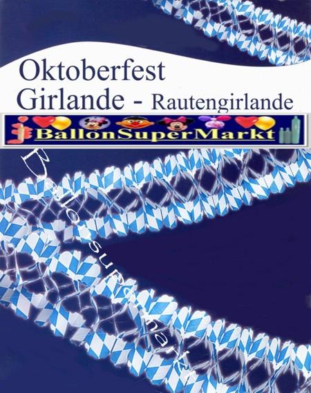 Oktoberfest Girlande, Girlandendekoration zum bayrischen Oktoberfest