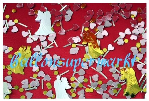 Hochzeit-Konfetti-Tischdekoration-Hochzeitspaare-Herzen
