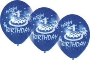 Zahlen-Luftballons-Kindergeburtstag, 1. Geburtstag