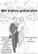 Hochzeitskarte für Luftballons zur Hochzeit, Luftballons mit Karten steigen lassen