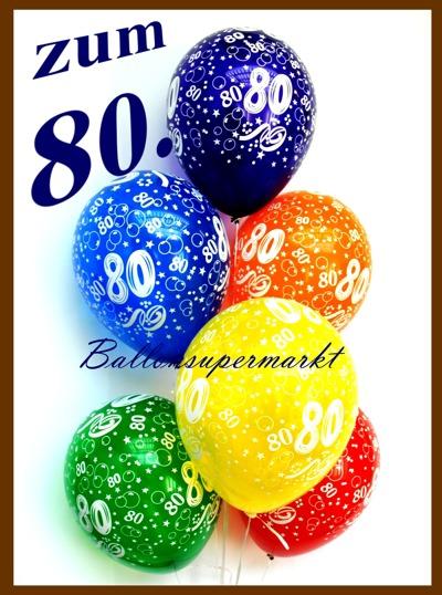 zum 80 geburtstag 100 luftballons mit helium inkl. Black Bedroom Furniture Sets. Home Design Ideas