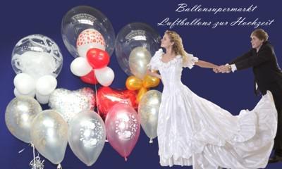 ballonsupermarkt just married luftballons 25 hochzeitsballons mit helium. Black Bedroom Furniture Sets. Home Design Ideas