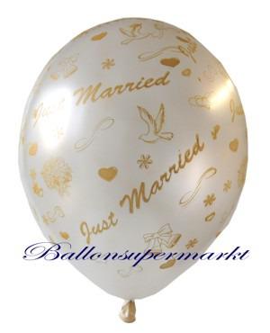 Just-Married-Hochzeits-Luftballon-Weiss