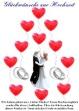Hochzeits-Ballonflugkarte, Glückwünsche zur Hochzeit mit Herzluftballons