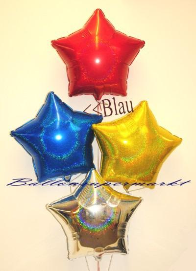 Stern-Folien-Luftballons-in-bunten-Farben-mit-Glanzeffekt-Blau