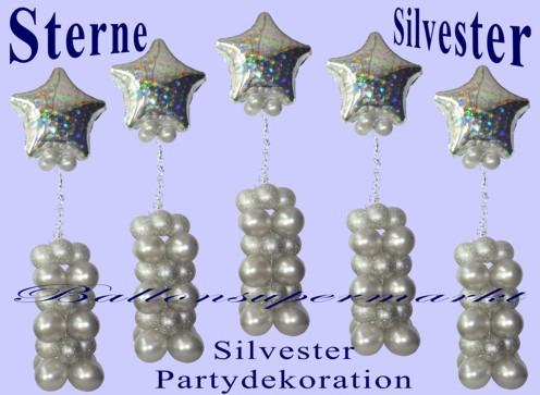 Silvester-Dekoration-Silvestersterne-Partydeko