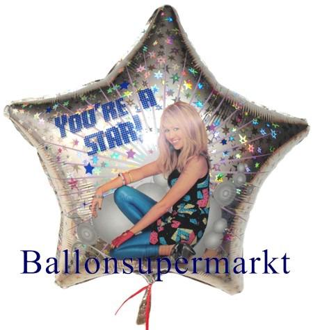 Hannah-Montana-Luftballon-Folienballon-Sternballon-ohne-Helium