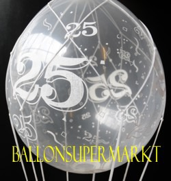 ballonsupermarkt fesselballon zur silberhochzeit zum 25 jubil um fesselballons. Black Bedroom Furniture Sets. Home Design Ideas