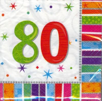 80. Geburtstag Deko Servietten