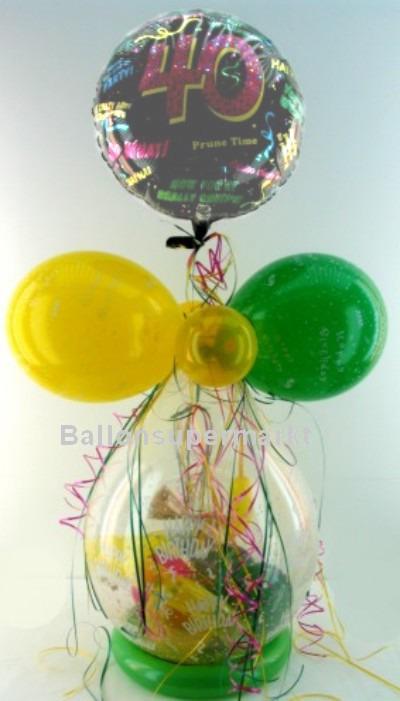 Geschenk zu 40. Geburtstag, Geschenkballon