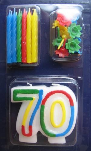 Geburtstagskerze 70. Geburtstag