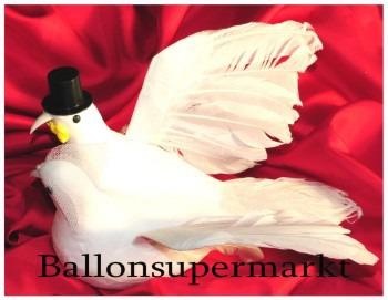 Taubenpaar Hochzeit, Tischdekoration, große Hochzeitstauben