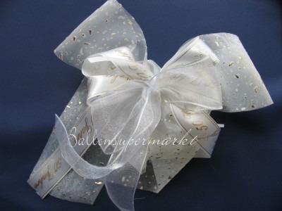 Hochzeitsschleife, Dekoration Hochzeit, Zierschleife, Goldene Hochzeit