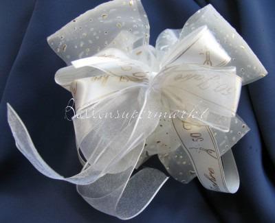 Hochzeitsdeko Zierschleife, Goldene Hochzeit