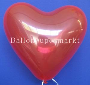 Herzluftballons Kristall-Rot