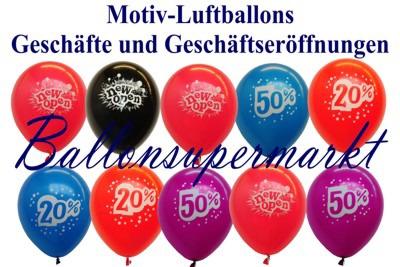Luftballons-Prozente-Eroeffnungen
