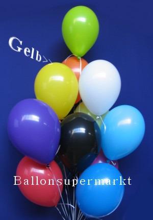 Luftballontraube Standard Rundballons Oval Gelb