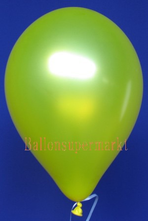 Luftballon Metallic Gelb