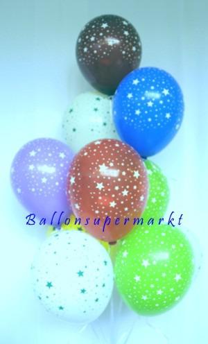 Ballontraube-Luftballons-Sternchen