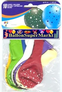 Motiv-Luftballons Sterne, Ballons aus Latex