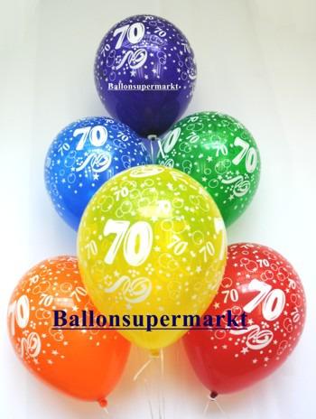 Zahlenluftballons-Geburtstag-70