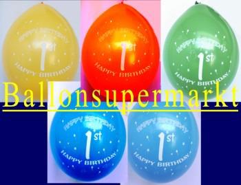 Luftballons-erster-Geburtstag-Dekoration-Luftfuellung