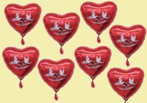 Folienballons, Alles Gute zur Hochzeit